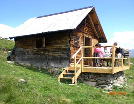 Berghütte Frommeshütte in Ladis Fiss Serfaus in Tirol!